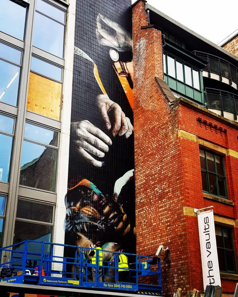 CERT's interview with NOMAD – the group behind new mural on Hilton House, Northern Quarter.